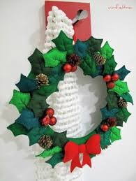 diy felt wreath tutorial and free templates free felt
