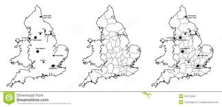 Liverpool England Map by Maps Of England With And Without Counties And Major Cities Stock