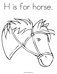 horse coloring twisty noodle