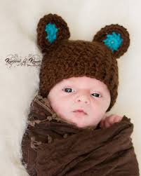 baby hat with ears baby boy hat newborn hat crochet baby