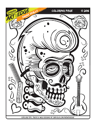 printable sugar skull coloring pages five different sugar skull