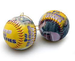 make a personalized ornament softball personalized