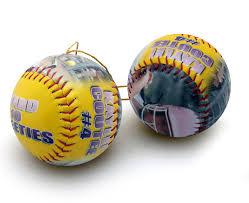 make a personalized ornament softball personalized