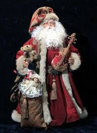Santa Claus Dolls Handmade - antique vintage santa polymer clay 19 used tapestries and
