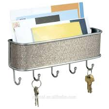 wall ideas key rack holder mail organizer wall hooks mail rack