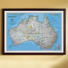 map of australia political australia political map classic framed national geographic store