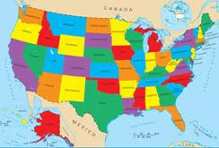 usa map ks2 geography for united states