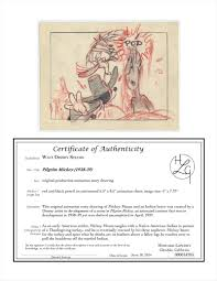 date of thanksgiving in 2014 auction howardlowery com disney pilgrim mickey animation story
