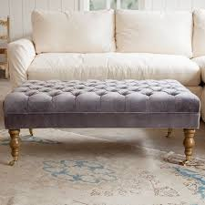 Button Tufted Ottoman Lovely Gray Tufted Ottoman Kathy Kuo Home Country Button