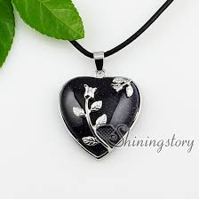 heart stone necklace pendants images Heart turquoise rose quartz agate opal amethyst semi precious jpg