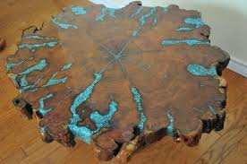 live edge table with turquoise inlay 49af0f30d672cbdf993529deaa767cc9 jpg 640 425 pixels projets à