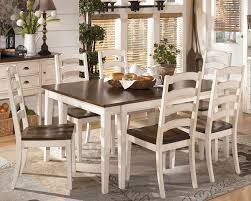 All Wood Dining Room Chairs by Cottage White Dining Set Country Style Solid Wood Dining Room