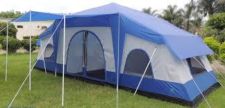 deluxe 4 room cabin tent 24 u0027x10 u0027 large camping tent sleeps 12 16