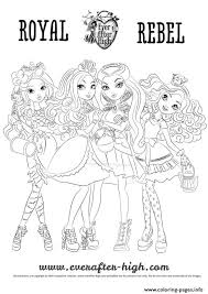 High Characters Coloring Pages Ever After High Raoyal Rebel Coloring Pages Printable by High Characters Coloring Pages