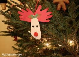 reindeer handprint footprint ornament ideas