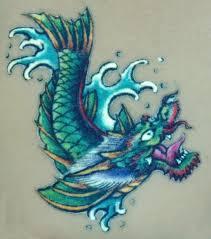 24 latest dragon fish tattoo designs