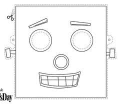coloring alluring robot mask template coloring robot