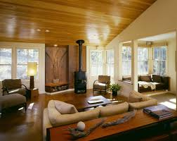 fireplace recessed lighting in cozy contemporary living room