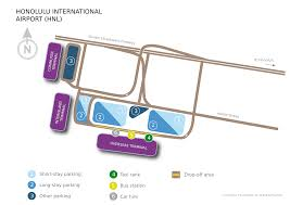 Honolulu Airport Map Honolulu Honolulu International Airport Hnl Usa Honolulu