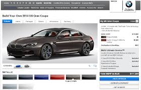 bmw build your car bmw launches build your own 2014 bmw m6 gran coupe motoroids