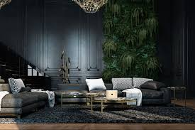 abandoned fortress living room luscious green wall panel