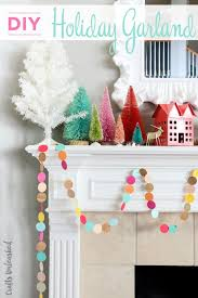 christmas diyistmas garland tree snow amazing ideas for kids