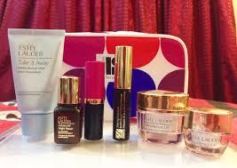 estée lauder 8 gift set a peek inside tiya fab