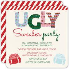 sweater invitations