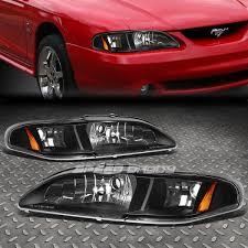ebay mustang headlights black 1pc headlight corner smoked altezza light for 94 98