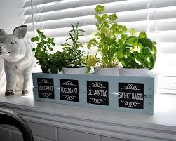window herb harden sassy sanctuary window herb garden with chalkboard labels