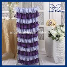 Purple Chair Covers Ch029b Sale New 2015 Layered Ruffled Color Combination Wedding
