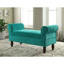 Bench Bedroom Fabric Bedroom Benches Bedroom Furniture The Home Depot