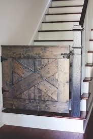 Baby Gates For Bottom Of Stairs With Banister 10 Diy Baby Gates For Stairs Barn Door Baby Gate Baby Gates And