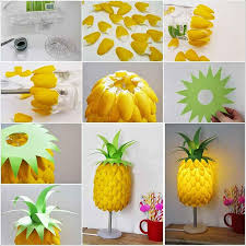 Creative Home Decorating Ideas On A Budget Delicate Table Lamp Of Diy Project Ideas With Pineapple Shape