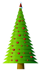 modern christmas tree contemporary christmas tree clipart clipartxtras