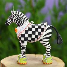 patience brewster mini zeke zebra ornament