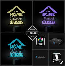home sweet home lamp text design with birds little house best