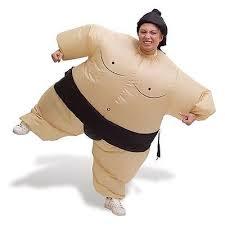 Fat Suit Halloween Costume Inflatable Sumo Wrestler Costume Blow Fat Suit Fancy Dress