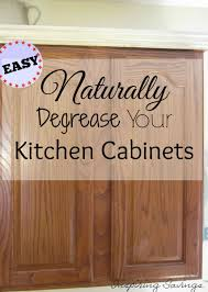 How Degrease Your Kitchen Cabinets All Naturally Cleaning - Cleaning kitchen wood cabinets