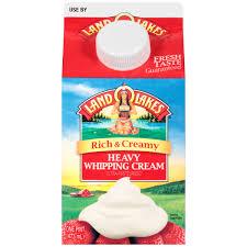 land o lakes rich u0026 creamy heavy whipping cream 1 pint walmart com