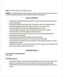 Sample Construction Manager Resume by 24 Best Work Resume Templates Free U0026 Premium Templates