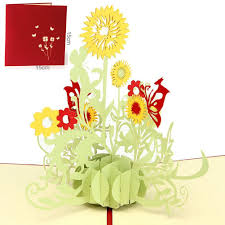 amazon com paper spiritz sunflower pop up birthday cards