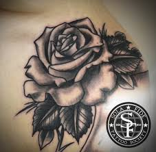 roses hands and scroll arm tattoo sola fidé tattoo society