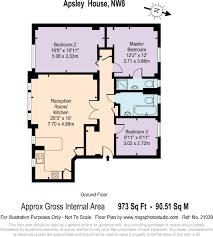 Apsley House Floor Plan 3 Bedroom Flat For Sale In Apsley House 23 29 Finchley Road