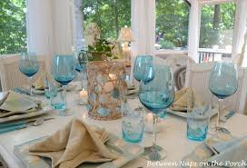 Beach Dining Room Sets by A Beach Themed Table Setting With A Starfish Napkin Fold