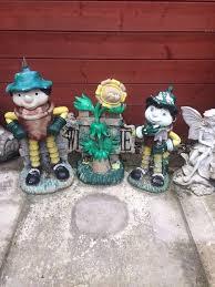 bill and ben the flowerpot men with weed garden ornaments
