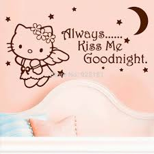 Decoration Cat Wall Decals Home by Bedroom Clock Picture More Detailed Picture About Always Kiss Me