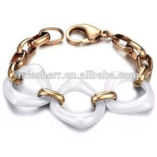 white ceramic bracelet images Gold men white ceramic bracelet fancy items 425jw buy fancy jpg
