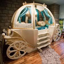 enchanting pumpkin cinderella carriage bed white finish cedar wood