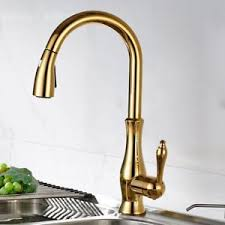 kitchen tap faucet monobloc single lever swivel pull out spray brass kitchen tap